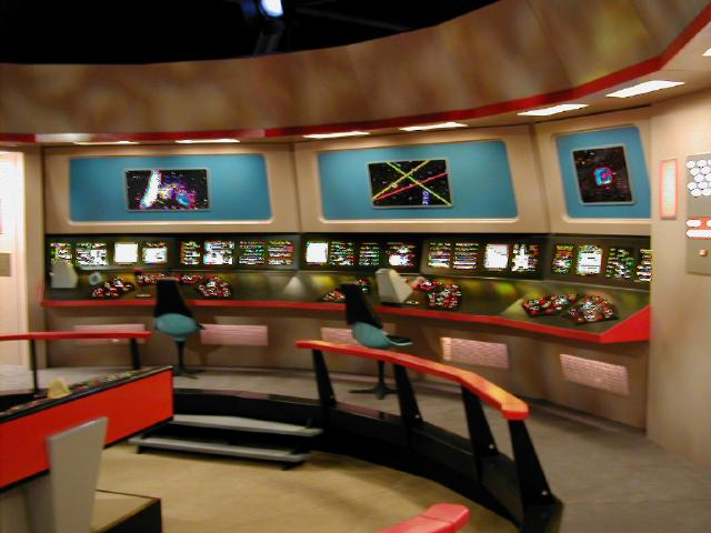 [The bridge from the original Star Trek series(jpg image)]